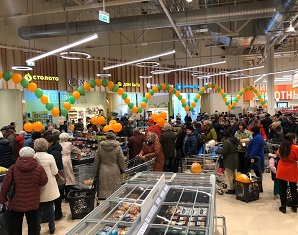 Globus Opens a New Hypermarket in Russia with CO2 Transcritical System